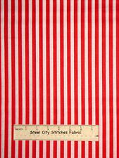 Patriotic Red White Stripe Striped USA David Textiles Cotton Fabric YARD