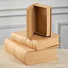 Paper Mache Book Box Set | Set of 3
