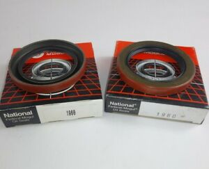 (2) NEW GENUINE NATIONAL OIL WHEEL SEALS # 1960 SEAL SET OF 2 (J7)