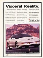 1996 Pontiac Firebird Trans Am -  Original Advertisement Print Art Car Ad J557