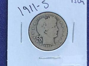 1911-S Barber Silver Quarter       E8359