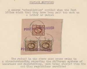 1936 scarce *POSTAGE REFUNDED* markings on piece