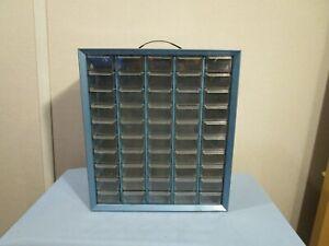 Vintage 50 Drawer Metal Akro Mills Small Parts Storage Organizer Cabinet Bin