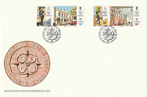 IOM 18 APRIL 1990 EUROPA POSTMEN UNADDRESSED FIRST DAY COVER DOUGLAS SHS (a)