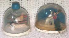Vintage Ges. Geschuzt Germany Plastic Snow Globes Christmas Skiing BGM ANGEM
