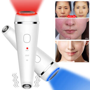 LED Therapy Sonic Vibration Wrinkle Remover Hot Cool Treat Rejuvenation Machine