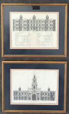 Set Of Antique Architectural Prints By C. Campbell c.1724
