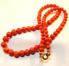 alte Korallen Kette Collier Koralle Kette Coral necklace Collier / BF 474