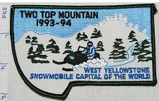 MONTANA, WEST YELLOWSTONE 1993-94 SNOWMOBILE TWO TOP MOUNTAIN SOUVENIR PATCH
