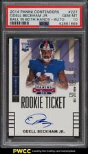 2014 Panini Contenders Both Hands Odell Beckham Jr. ROOKIE RC AUTO #227 PSA 10