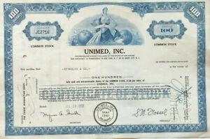 Unimed stock certificate