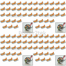 100 x Wago 5-way Electrical Lever Connectors Wire Terminal Block Clamp (221-415)
