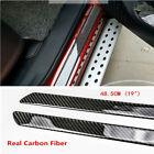 4 Side 4x Car Stickers Parts Accessories Carbon Fiber Door Sill Protector Scuff