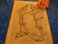 signé berthon 1865 , procession à st-bonnet ,puy de dome ,beau crayonnage