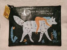Blue Q Zipper Pouch Carry Me Into the Weekend Recycled Plastic NWT