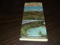 D&RGW DENVER AND RIO GRANDE WESTERN PANORAMIC VIEWS BROCHURE