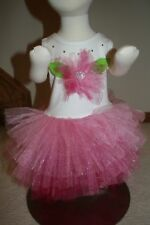 Bonnie baby size 12 month glitter tulling dress flower easter church party