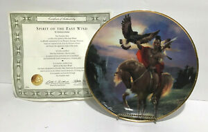 """Franklin Mint """"Spirit of the East Wind"""" Indian Western Heritage Collector Plate"""