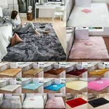 Soft Fluffy Faux Fur Shaggy Rug Floor Carpet Rugs Bedroom Room Decor Plush Mats