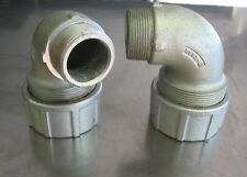 90 DEGREE MALE ELBOW FITTING 1 1/2 WITH NUT AND BUSHING NEW CROUSE HINDS CGE5913