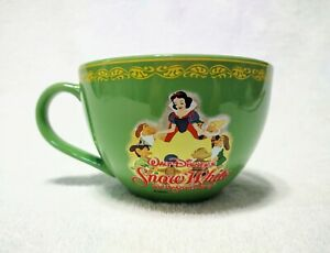 Disney Snow White and the Seven Dwarfs Green Extra Large Coffee Mug Tea Soup Cup