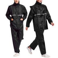 Men Outdoor Waterproof Windproof Rain Suit Jacket/Coat & Trousers Set