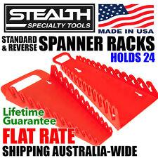 Set of Standard & Reverse Spanner Rack Gripper Holds 24 Tool Organiser ERNST