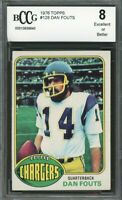 1976 topps #126 DAN FOUTS san diego chargers BGS BCCG 8
