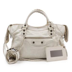 BALENCIAGA Handbag Shoulder Bag 2WAY Leather White
