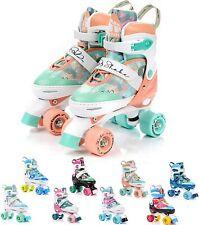 Rollschuhe Retro Quad Skate Einstellbare Größe von 31 bis42 Kinder Mädchen Junge