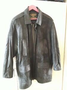 El Genini Leather Black Jacket size Large