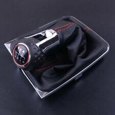 6 Speed Gear Stick Shift Knob Boot Gaiter Cover Fit For VW Golf MK7 GTI 2013-18