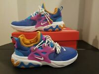 Nike React Presto GS 6Y Blue Multi Color Running Shoes CK1752 400
