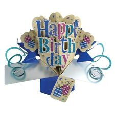 Happy Birthday Pop-Up Greeting Card Original Second Nature 3D Pop Ups Cards