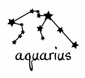 Aquarius Constellation Zodiac Star Sign Astrology Car Decal Window Sticker