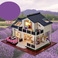 1:24 DIY Handwerk Miniaturprojekt Holzpuppenhaus Retro Provence Villa