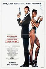 A VIEW TO A KILL (1985) ORIGINAL ADVANCE B MOVIE POSTER  -  FOLDED