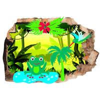 Wall Stickers Frog Rainforest Nature Kids  Bedroom Girls Boys Living Room G957