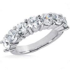 1.13 carat 7 Round Diamond Wedding Ring Anniversary Band F color SI1 clarity