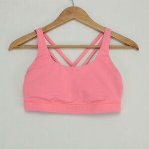 Lululemon Energy Sports Bra Womens 6 Pink No Inserts