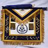 Grand Lodge Past Master Mason Apron Hand Embroidered Dark Blue Gold Bullion