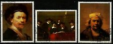 PARAGUAY, REMBRANDT VAN RIJN PAINTINGS, NICE SET OF 3 STAMPS, YEAR 1982
