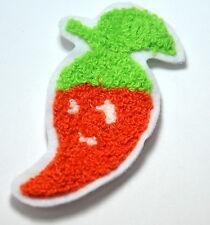 Rouge Piment Peluche Orange Brodé à coudre Vêtement patch badge applique