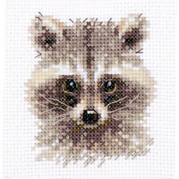 Counted Cross Stitch Kit ALISA - Animals in portraits. Raccoon