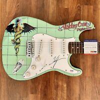 Vince Neil Signed Guitar PSA COA Custom 1/1 Graphics!!! Motley Crue Dr. Feelgood