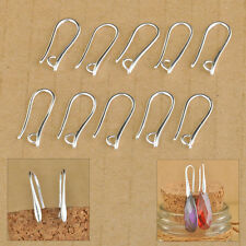 100Pcs Making DIY Jewelry Findings Hook Earring Pinch Smooth Earwires Crystal