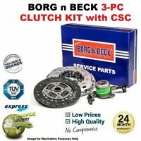 BORG n BECK 3PC CLUTCH KIT with CSC for VOLVO C30 1.6 D2 2010-2012