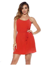 Blvd Collection by Forplay Women's Chiffon Dress, Red, XL