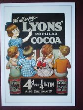 POSTCARD  LYONS POPULAR COCOA