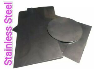 Stainless Steel Sheet Metal Plate Panel 1.2mm 200x100mm 100mm Dia Mix Sizes